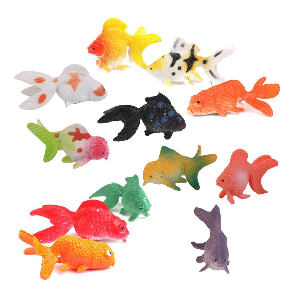 12Pcs Model Plastic Goldfish Toys Set