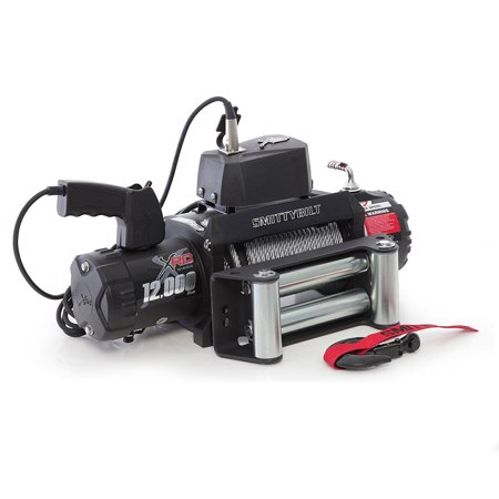 Atv Foot (Smittybilt 97412 XRC-12 Gen2 6.6HP 12000 Lb 94 Foot Waterproof ATV Towing Winch )