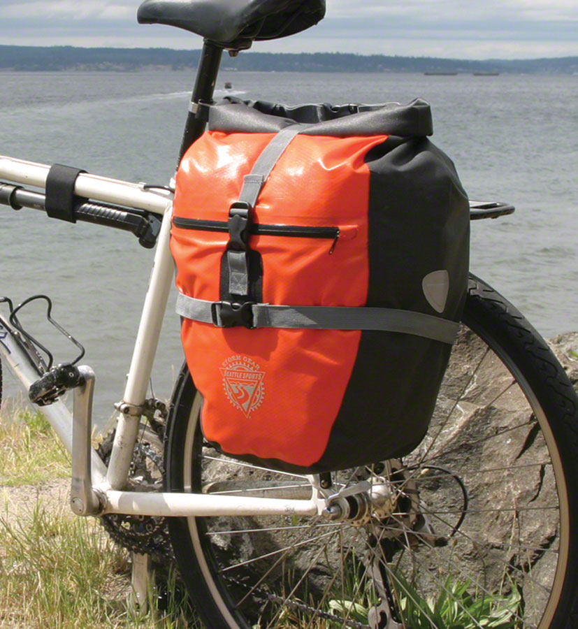 Seattle Sports Company Rain Rider Pannier: Orange, Single
