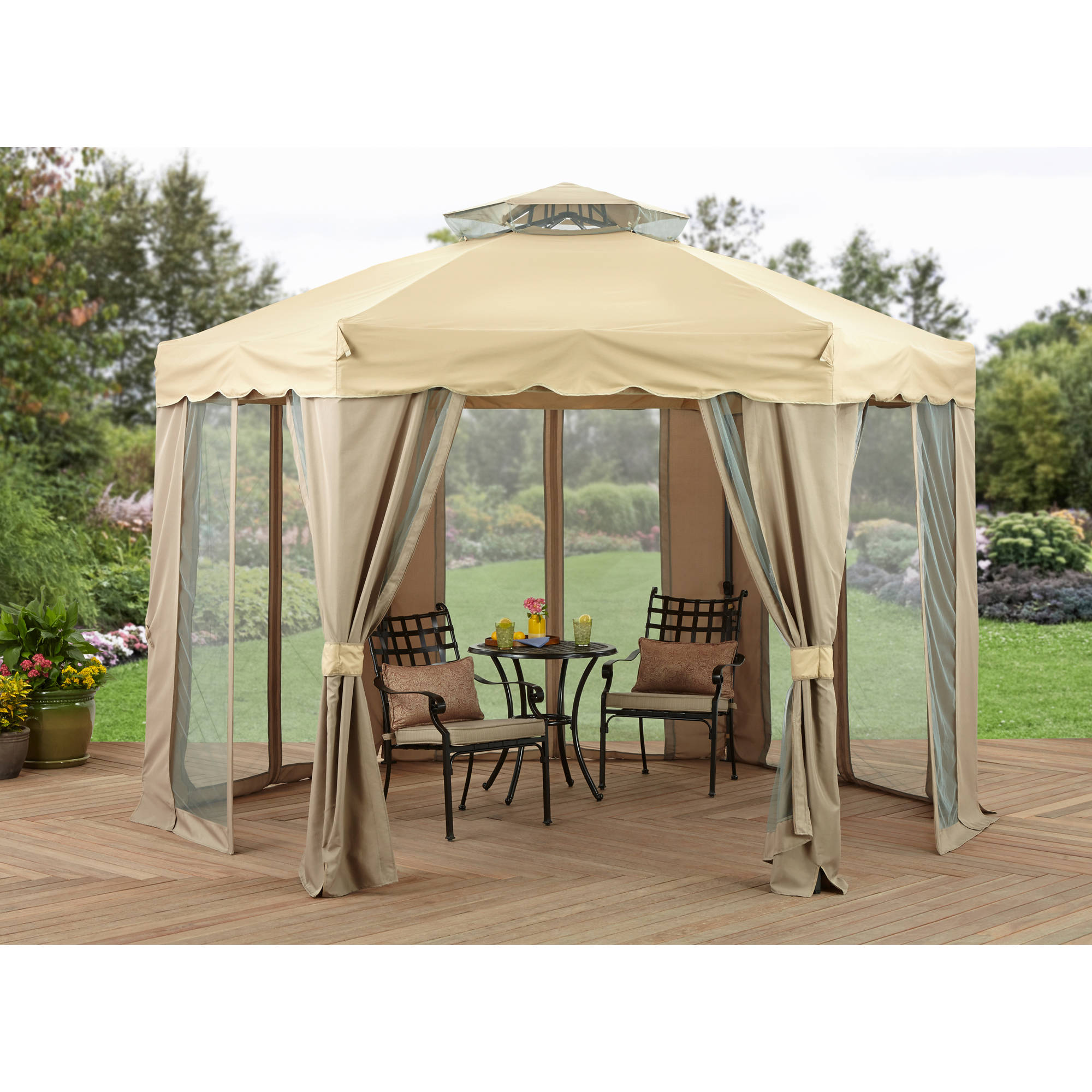 Better Homes and Gardens Gilded Grove Gazebo ...  sc 1 st  Walmart & Better Homes and Gardens Gilded Grove Gazebo 12u0027 x 12u0027 - Walmart.com