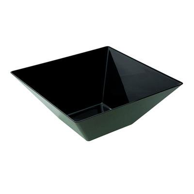 Medium Square Black Plastic Bowls/Case of 50
