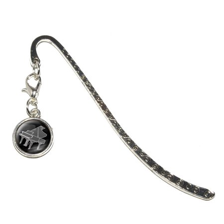 Piano Label (Piano Player - Band Orchestra Instrument Music Percussion Metal Bookmark with Charm )