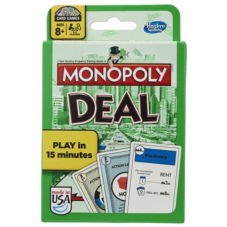 Monopoly Deal Card Game, Monopoly Deal game is the card version of the classic Monopoly game By Hasbro