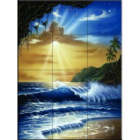 - Ceramic Tile Mural - Ocean Paradise- by Jeff Wilkie - Kitchen backsplash / Bathroom shower