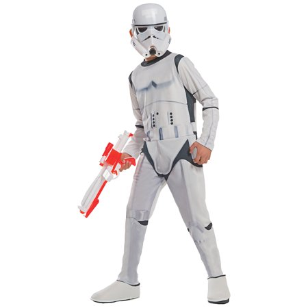Morris Costumes Stormtrooper Child favorite character from the original Star wars trilogyof movies Mask and jumpsuit with boottops Medium, Style RU610700MD - Favorite Movie Characters Halloween