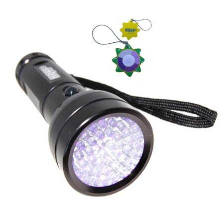 HQRP 51 LEDs 390nm Blacklight UV Flashlight for Glass Repair, Art Forgery / Repair tests, Antique Inspection plus HQRP UV Meter