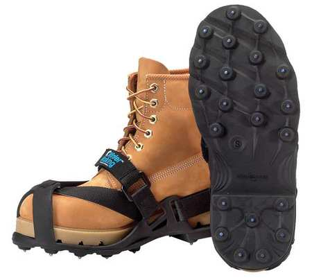 Winter Walking Size 9-1/2 to 11 Strap-on Cleats, Men's, Black, JD4472-L