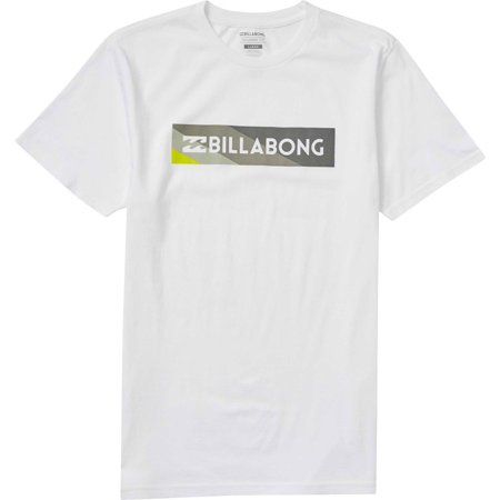 Billabong Men's Unity Block Shirts (Billabong White Tee)