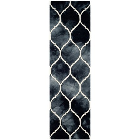 Safavieh Dip Dye 3' X 5' Hand Tufted Rug in Graphite and Ivory - image 3 de 10