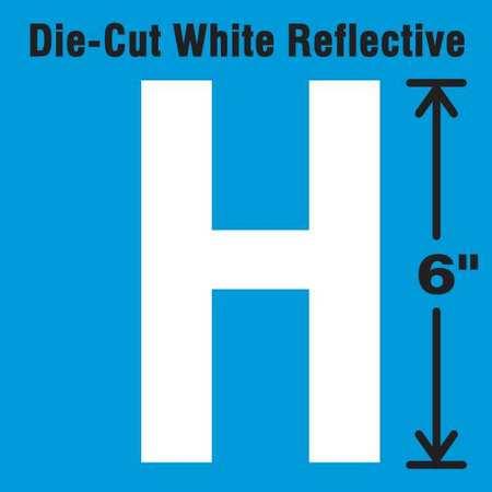 STRANCO INC DWR-6-H-EA Die-Cut Reflective Letter Label, H