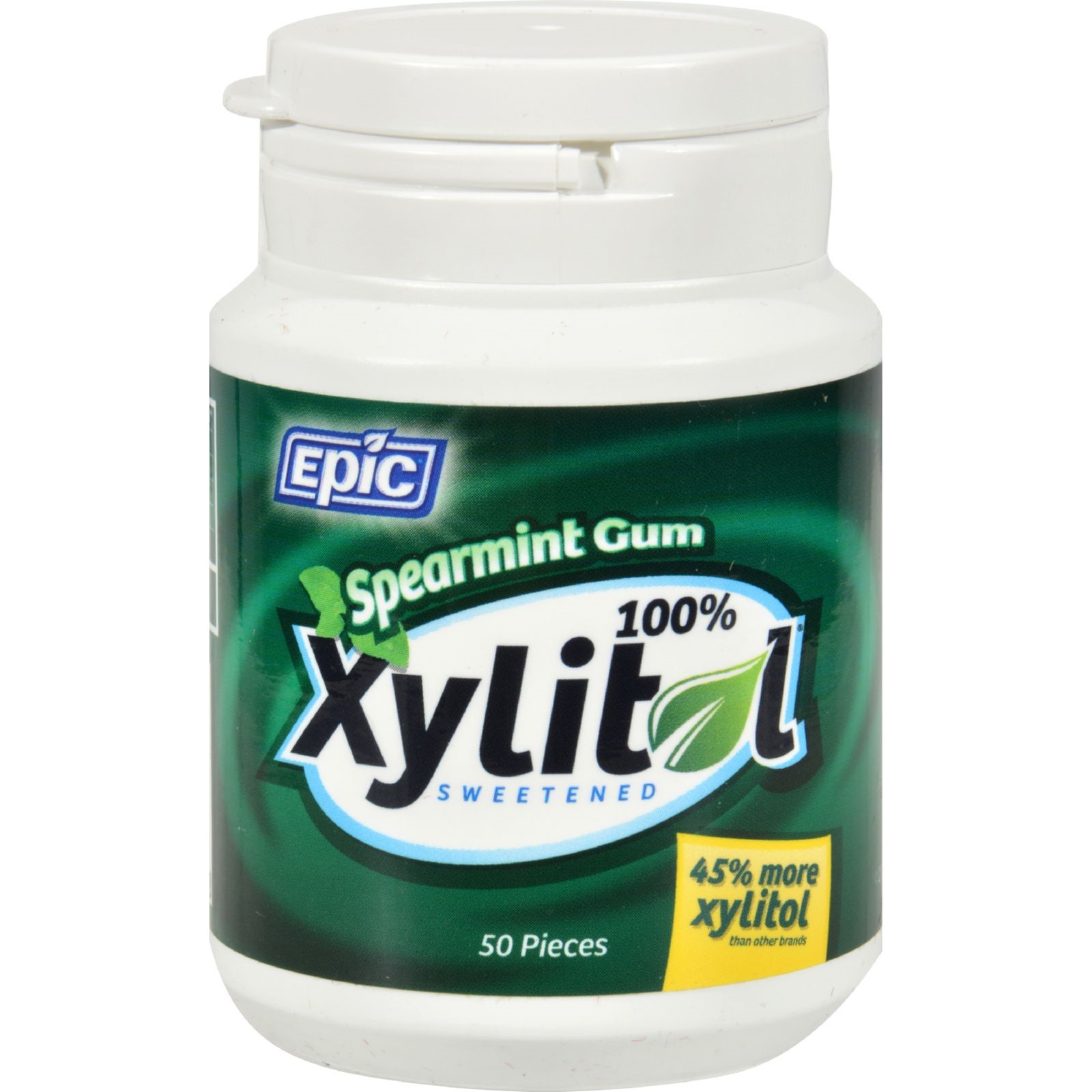Epic Dental Spearmint Gum Xylitol Sweetened 50 Count by Epic Dental