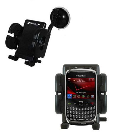 Gomadic Brand Flexible Car Auto Windshield Holder Mount designed for the Blackberry Curve 3G 9330 - Gooseneck Suction Cup Style Cradle