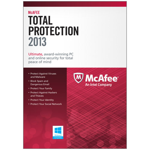 McAfee 2013 Total Protection, 3 PCs