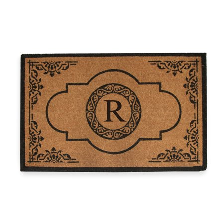 A1HC First Impression Hand Crafted Abrilina Entry 30 inch X 48 inch Double Doormat Monogrammed - R