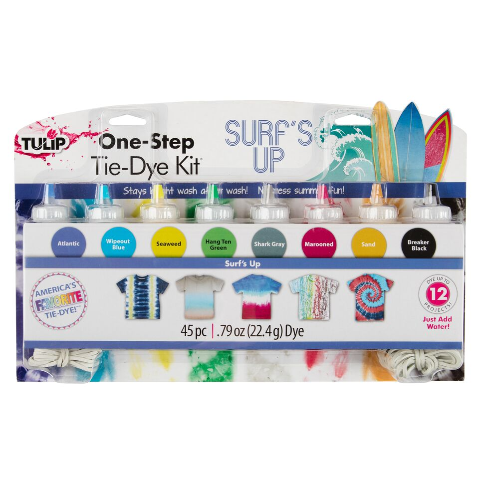 TULIP 8-COLOR ONE-STEP TIE-DYE KIT, SURF'S UP