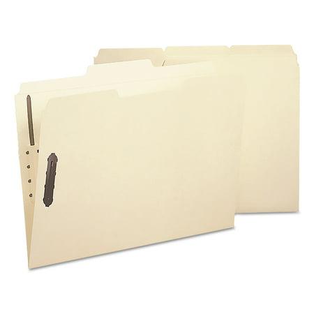 Smead Poly Folder, Two Fasteners, 1/3 Cut Top Tab, Letter, Manila, 24/Box -SMD10545 (Fasteners 1/3 Tab Cut Letter)