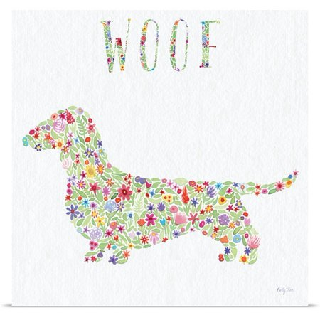 Great Big Canvas Carly Rae Studio Poster Print Entitled Doxie   Woof