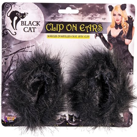 Black Cat Clip on Ears - Adult One - Black Cat Ears