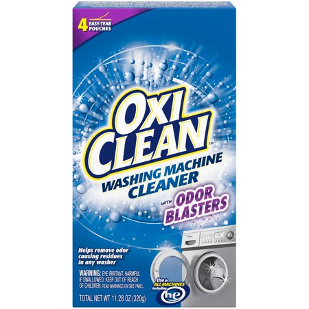 OxiClean Washing Machine Cleaner with Odor Blasters, 4