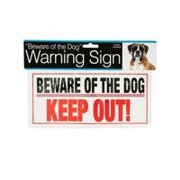 Bulk Buys DI266-24 Dog Warning Sign
