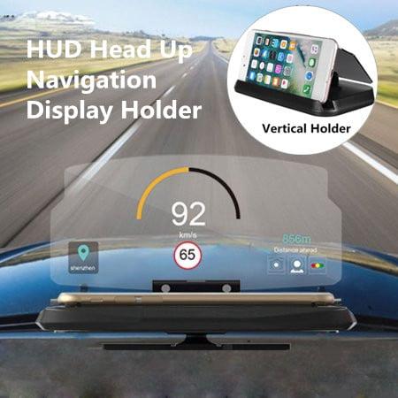 6'' Universal Heads Up Display Car HUD Phone GPS Navigation Image Reflector With Mobile Phone GPS Car Vertical Holder Stand (Best Car Hud Display)