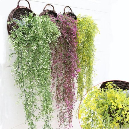 The Noble Collection Artificial Hanging Ivy Garland Plants Vine Fake Foliage Flower Wisteria Home DIY