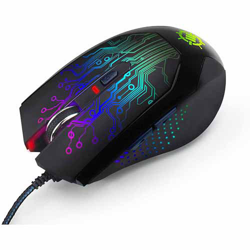 ENHANCE High Precision 6-Button Optical Gaming Mouse with 3500 DPI & Color-Changing LED Body