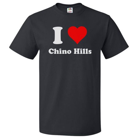 I Heart Chino Hills T-shirt - I Love Chino Hills Tee Gift - City Of Chino Hills Halloween