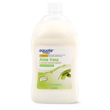 (2 pack) Equate Liquid Hand Soap, Aloe Vera, 56 Oz
