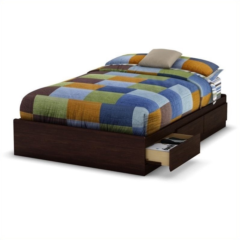 Better Homes And Gardens Crossmill Mates Twin Bed With Storage, Weathered  Finish   Walmart.com