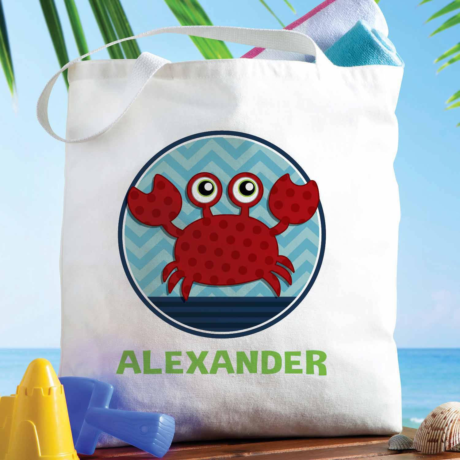 Personalized Sweet Crab Tote Bag