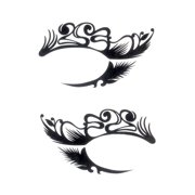 Loftus Women Assorted Forget Makeup Crazy Design Eye Temporary Tattoo, One Size