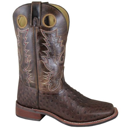 "Smoky Mountain Men's 11"" Danville Tobacco/Brown Crackle Western Boots 4047"
