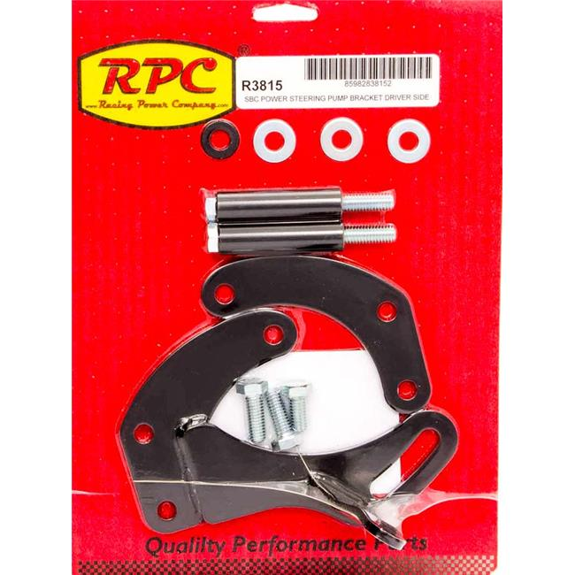 Racing Power RPCR3815 Saginaw Power Steer Bracket Short Water Pump, Black for Small Block Chevy - image 1 de 1