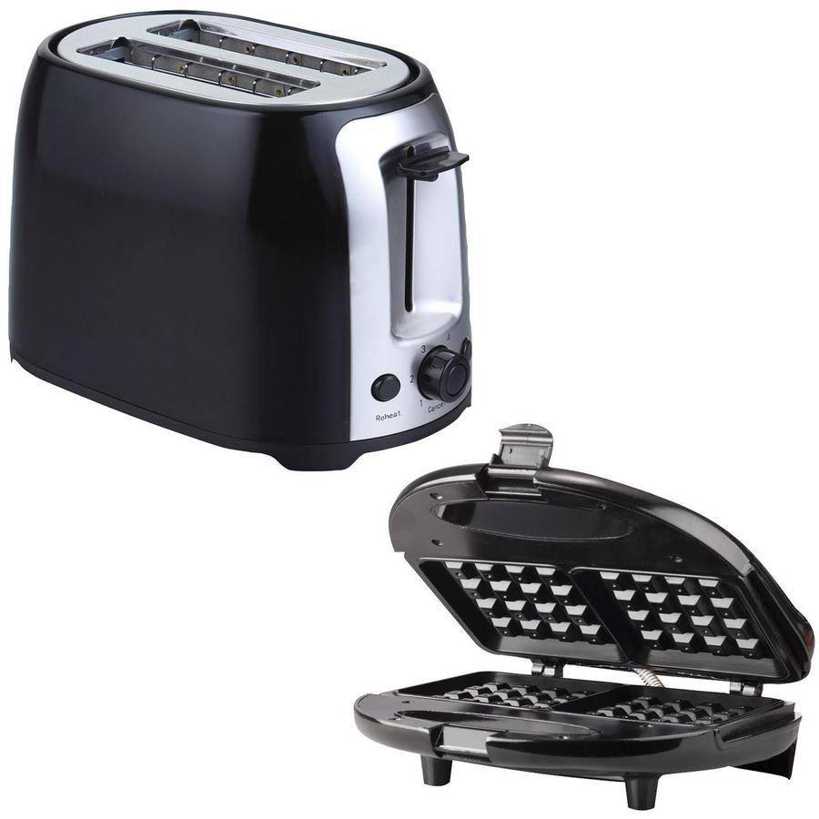 Brentwood TS-292B 2-Slice Cool Touch Toaster and Brentwood TS-243 Waffle Maker
