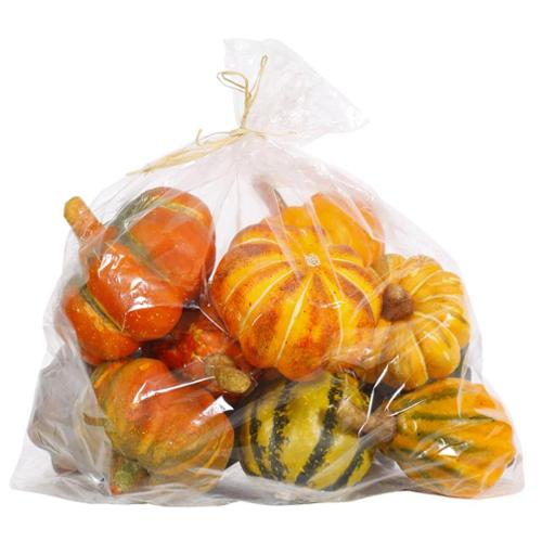 Set of 6 Colorful Artificial Autumn Fall Halloween Gourds 3""
