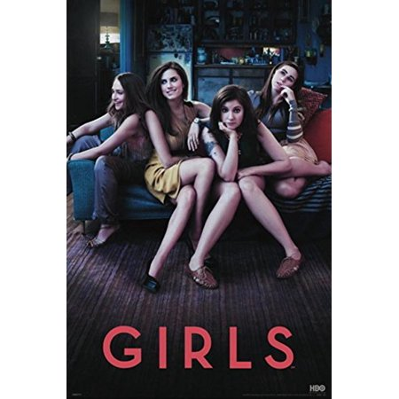 Girls Hbo Series 36X24 Poster Art Print Starring Lena Dunham  Allison Williams  Jemima Kirke Season 1 A Comedy About The Experiences Of A Group Of Girls In Their Early 20S