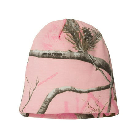 - CAMOUFLAGE Hunting Camo Acrylic interior lining Knit Cap - 8 inch, Pink Realtree All Purpose