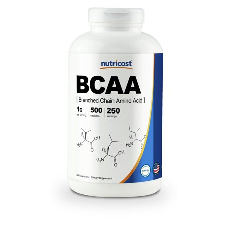 Bcaa Caps - Nutricost BCAA Capsules 2:1:1 500mg, 500 Caps