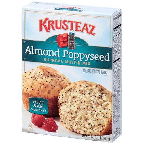 Krusteaz Almond Poppyseed Supreme Muffin Mix, 17 oz