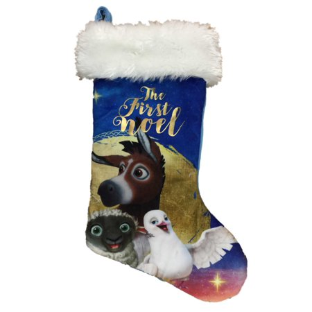 The Star Movie Blue First Noel Christian Nativity Scene Christmas Stocking (Stocking Stars)