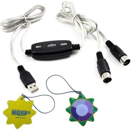 HQRP USB IN-OUT MIDI Interface Cable Converter PC to Music Keyboard Adapter Cord for... by