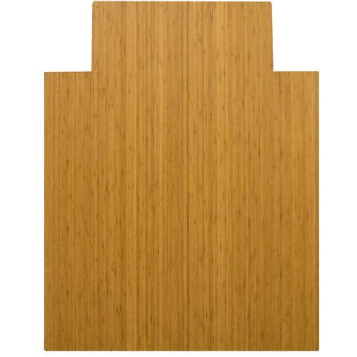 "Anji Mountain Bamboo Chairmat 36"" x 48"" with Lip, Natural"