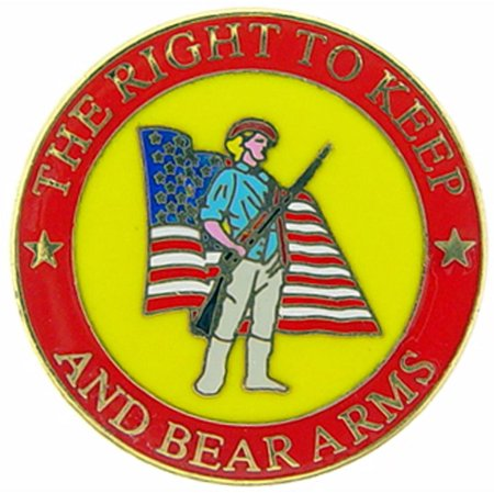 Second Amendment Right To Keep And Bear Arms - The Right to Keep And Bear Arms Pin 1