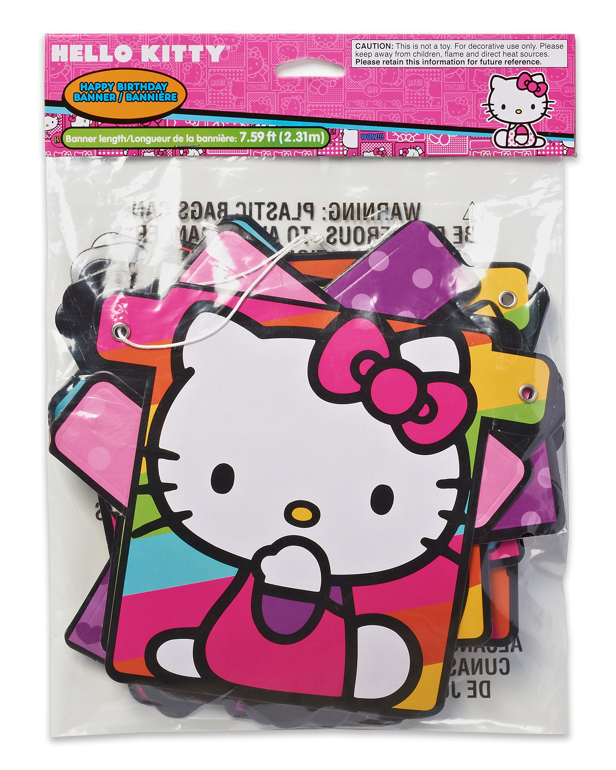 American Greetings Hello Kitty Birthday Banner Party Supplies Novelty
