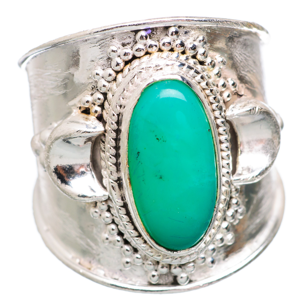 Ana Silver Co Chrysoprase 925 Sterling Silver Ring Size 7 Handmade Jewelry RING833556 by Ana Silver Co.