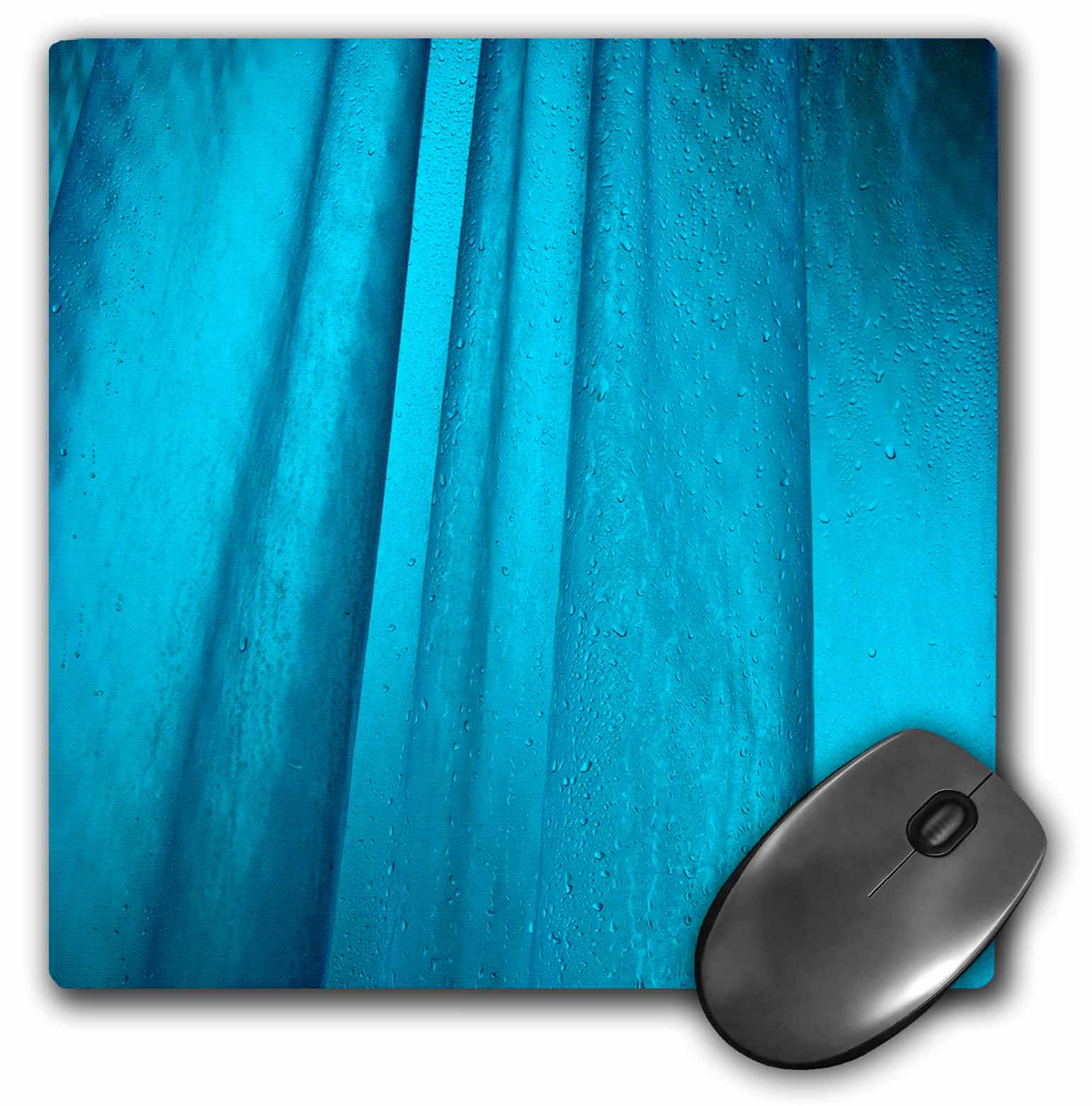 3dRose Abstract blue background wet shower curtain back lit, Mouse Pad, 8 by 8 inches