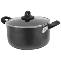 Oster Clairborne 6 Quart Aluminum Dutch Oven with Lid in Charcoal Grey