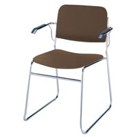 KFI Studios 300 Series Dining Chair with Arms, Brown Vinyl