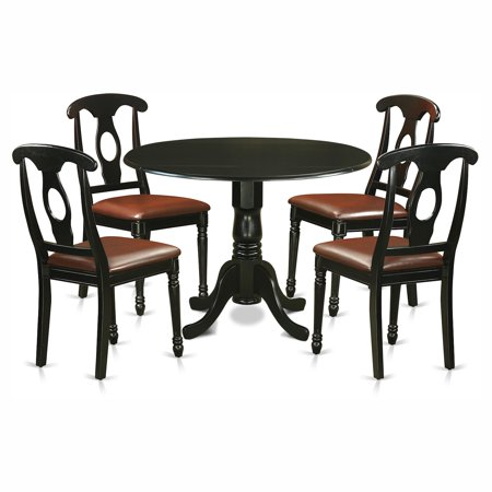 Awesome East West Furniture Dublin 5 Piece Drop Leaf Dining Table Set With Kenley Faux Leather Seat Chairs Caraccident5 Cool Chair Designs And Ideas Caraccident5Info
